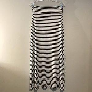 Women's XS J. Crew Striped Maxi Skirt